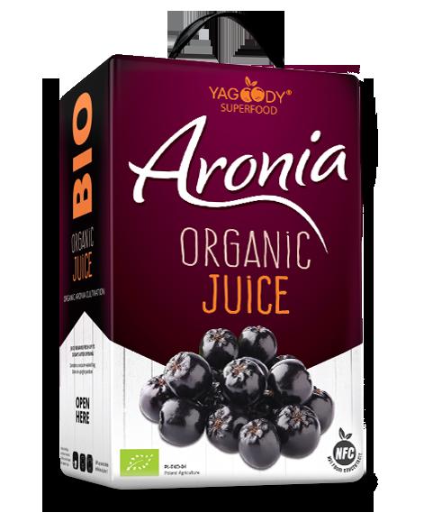 Organic aronia juice NFC Bag in Box