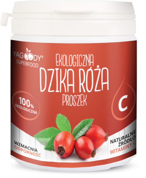 Organic rosehip in powder