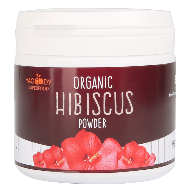 Organic hibiscus in powder