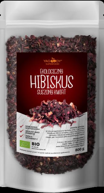 Organic hibiscus in petals